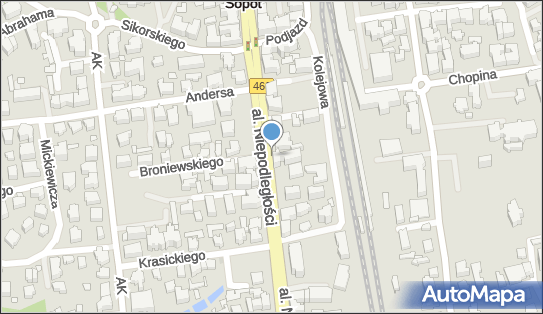Postój Taxi,  Sopot, Aleja Niepodległości  - Taxi - Postój