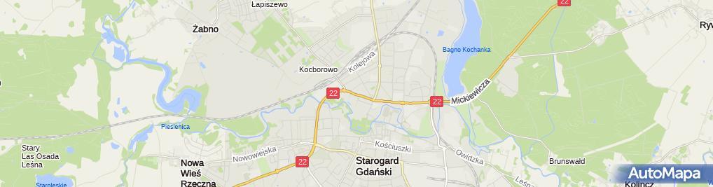 Zdjęcie satelitarne Wojskowa Komenda Uzupełnień