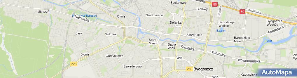 Zdjęcie satelitarne Biblioteka Główna WiMBP