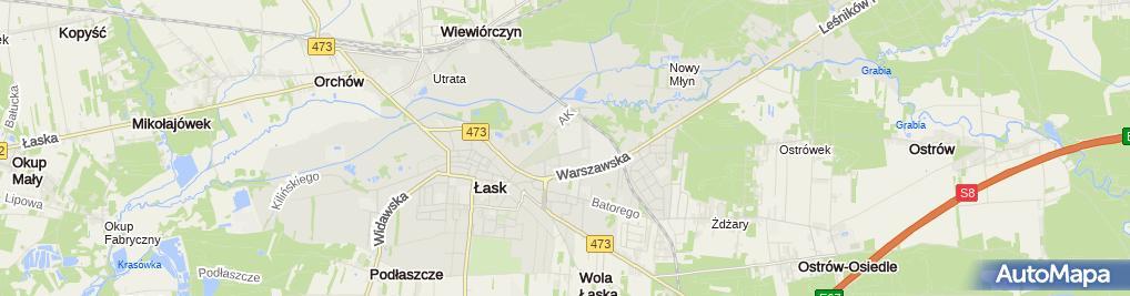 Zdjęcie satelitarne Petecki