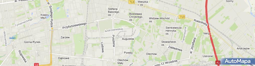Zdjęcie satelitarne Ciepłownia