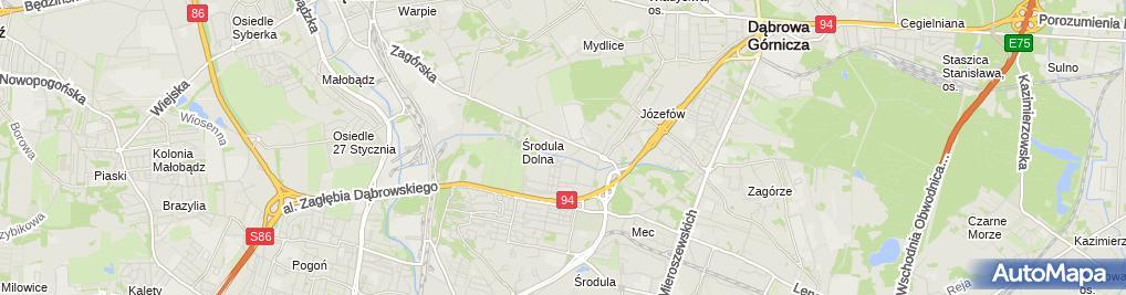 Zdjęcie satelitarne Decathlon