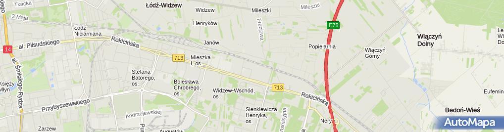 Zdjęcie satelitarne FedEx Express Polska Sp. z o.o.