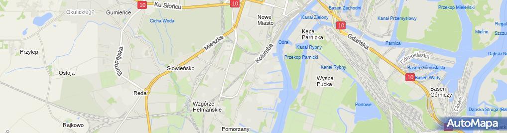 Zdjęcie satelitarne Zakład Gazowniczy