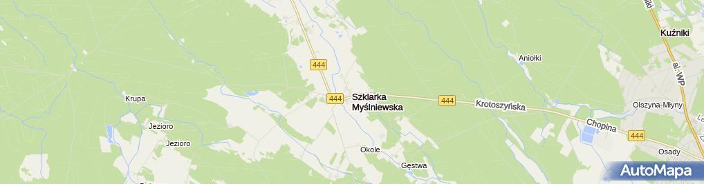 Zdjęcie satelitarne Szklarka Myślniewska