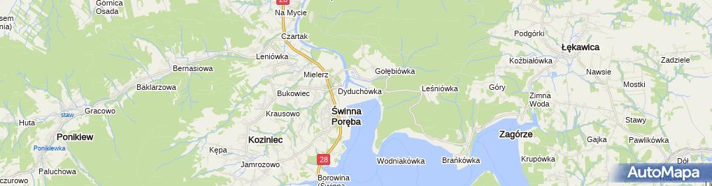 Zdjęcie satelitarne Zbiornik Świnna Poręba