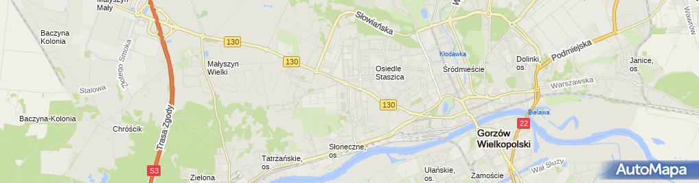 Zdjęcie satelitarne Inter Cars