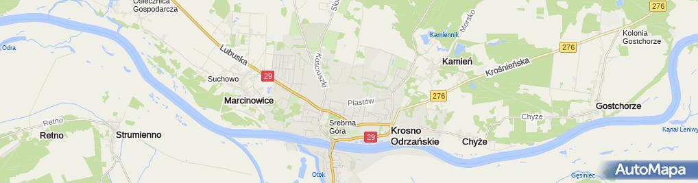 Zdjęcie satelitarne 5 Kresowy batalion saperów