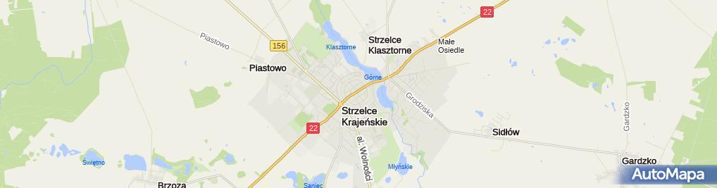 Zdjęcie satelitarne Komornik Sądowy przy SR w Strzelcach Kraj.