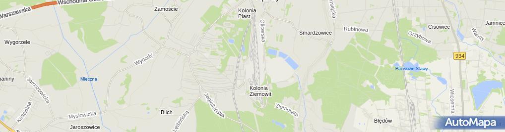 Zdjęcie satelitarne KWK Ziemowit
