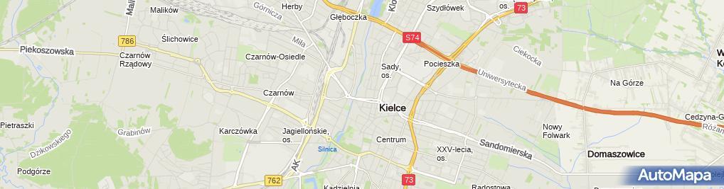 Zdjęcie satelitarne Kuratorium Oświaty w Kielcach