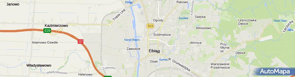 Zdjęcie satelitarne I LO im. Juliusza Słowackiego