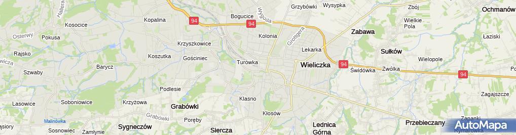 Zdjęcie satelitarne Małopolski Związek Wędkarski