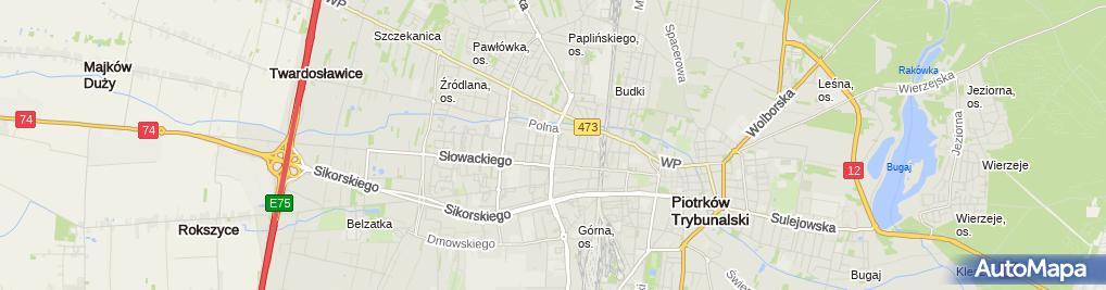 Zdjęcie satelitarne Delegatura - Łódzki NFZ