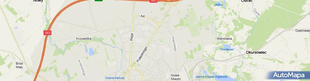 Zdjęcie satelitarne Delegatura - Podlaski NFZ