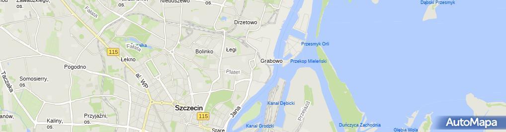 Zdjęcie satelitarne Netto