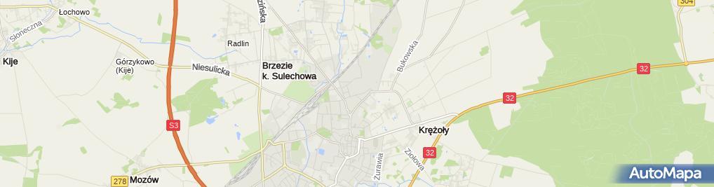 Zdjęcie satelitarne Jednostka Wojskowa
