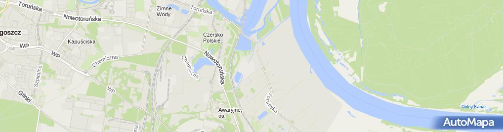 Zdjęcie satelitarne Oczyszczalnia KAPUŚCISKA - Chemwik Sp. z o.o.
