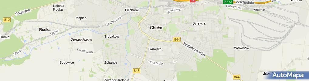 Zdjęcie satelitarne UP Chełm 1