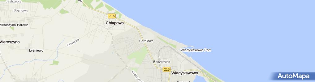 Zdjęcie satelitarne Pokoje gościnne Family Inn