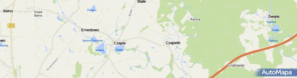 Zdjęcie satelitarne Provimi Polska Sp. z o.o. Ferma Doświadczalna w Czaplach