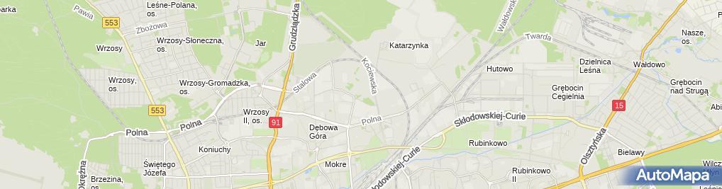 Zdjęcie satelitarne Restauracja Twierdza Toruń Fort IV