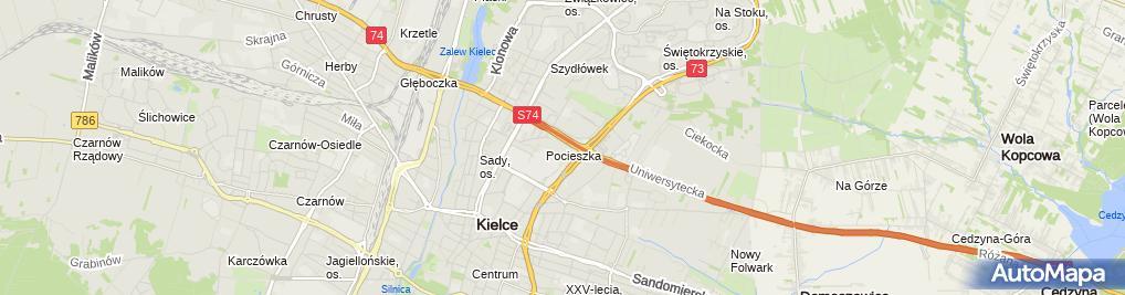 Zdjęcie satelitarne RTV Euro AGD