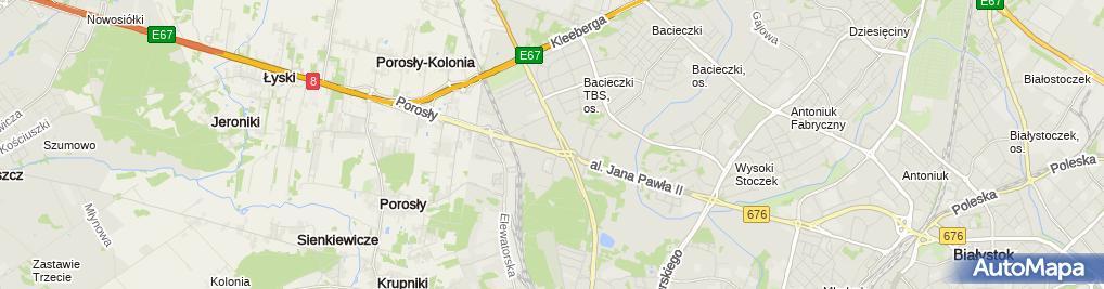 Zdjęcie satelitarne HYUNDAI Spectrum Autoryzowany Serwis Białystok. Ford, KIA Serwis