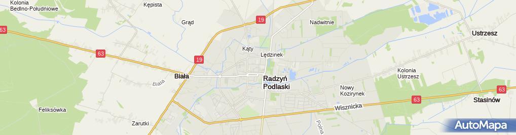 Zdjęcie satelitarne Powiatowa Stacja Sanitarno-Epidemiologiczna