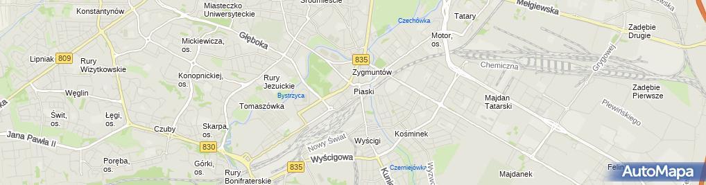 Zdjęcie satelitarne Zakład bukmacherski STS