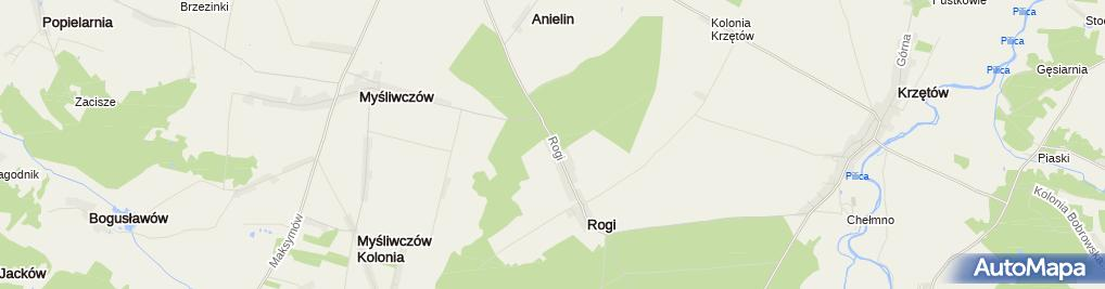 Zdjęcie satelitarne Szkoła podstawowa im. Batalionów Chłopskich w Rogach