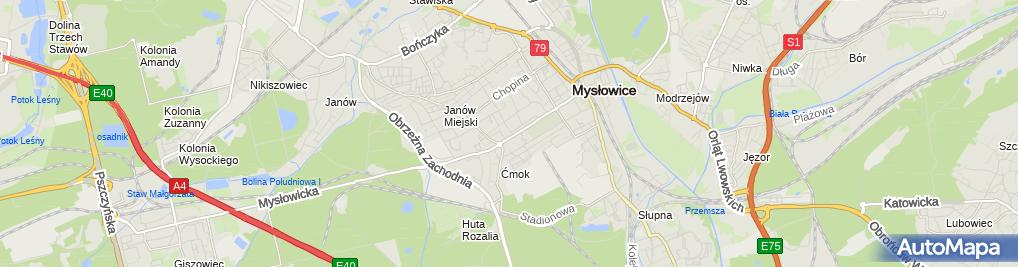 Zdjęcie satelitarne Zespół Szkół Zawodowych