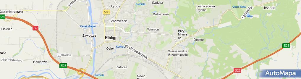 Zdjęcie satelitarne 110 Szpital Wojskowy
