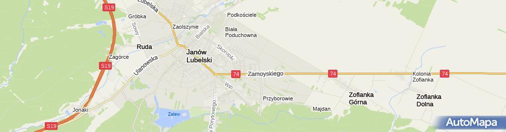 Zdjęcie satelitarne SPZOZ