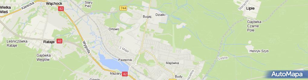 Zdjęcie satelitarne Wyższa Szkoła Finansów i Informatyki im. J. Chechlińskiego w Ło