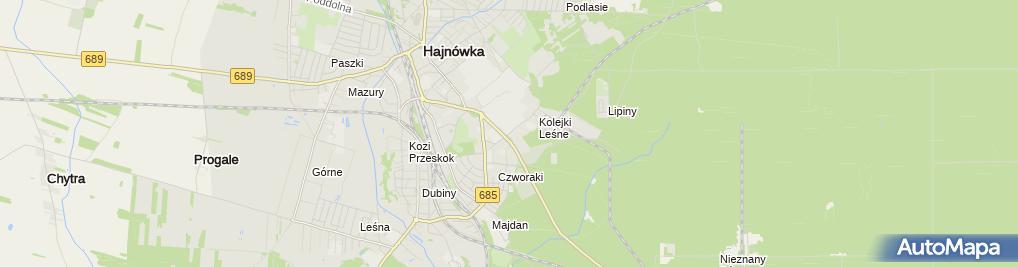 Zdjęcie satelitarne Sklep Wędkarsko-Myśliwski Helena