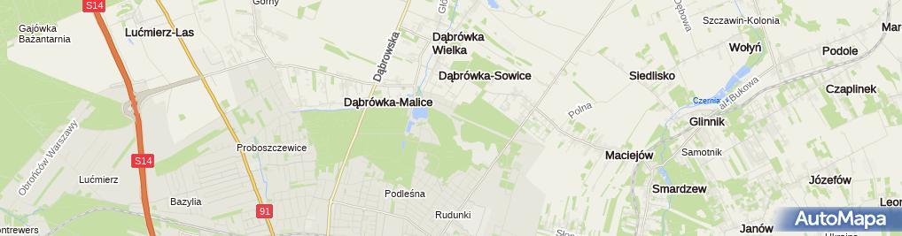 Zdjęcie satelitarne Malinka