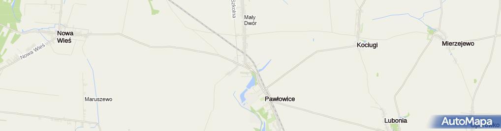 Zdjęcie satelitarne Pawlowice palac