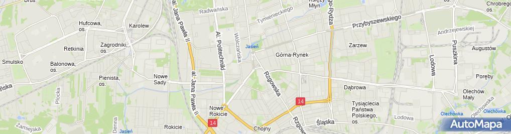 Zdjęcie satelitarne Plac Niepodleglosci Lodz