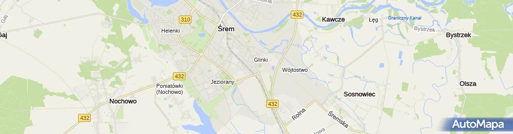 Zdjęcie satelitarne Śrem Szkoła Rolnicza