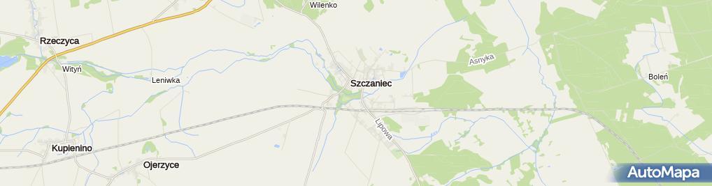 Zdjęcie satelitarne Szkoła Szczaniec