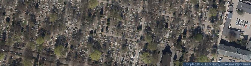 Zdjęcie satelitarne Cmentarz Bródnowski