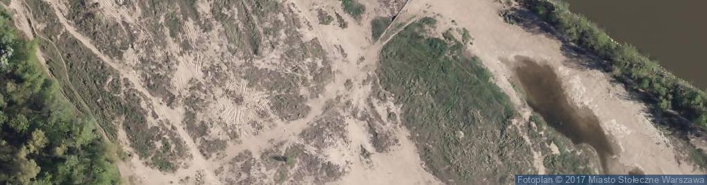 Zdjęcie satelitarne Plaża naturystów