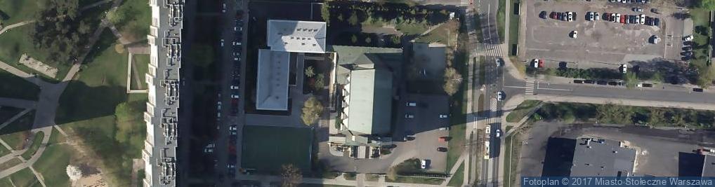 Zdjęcie satelitarne Matki Bożej Ostrobramskiej - Sanktuarium
