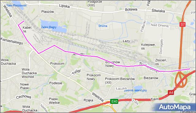Rozkład jazdy autobusu 143 na przystanku Kabel. MPKKrakow na mapie Targeo