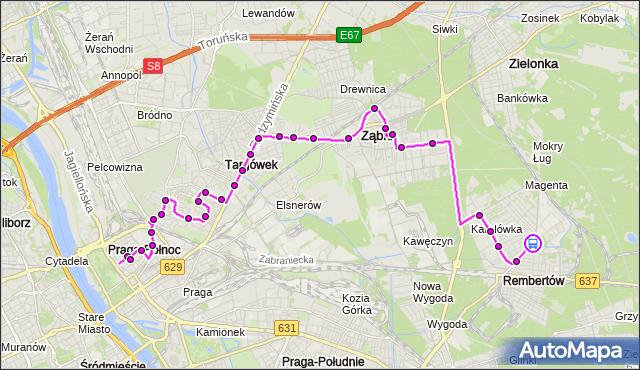 Rozkład jazdy autobusu 199 na przystanku REMBERTÓW-AON 01. ZTM Warszawa na mapie Targeo