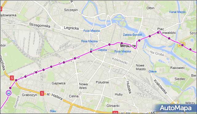 Rozkład jazdy tramwaju 4 na przystanku GRABISZYŃSKA (Cmentarz). MPKWroclaw na mapie Targeo