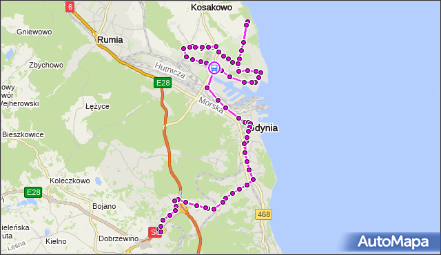 Rozkład jazdy autobusu N10 na przystanku Obłuże Centrum. ZKMGdynia na mapie Targeo