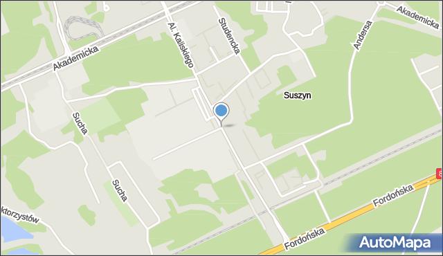 Bydgoszcz, Aleja Kaliskiego Sylwestra, prof., mapa Bydgoszczy