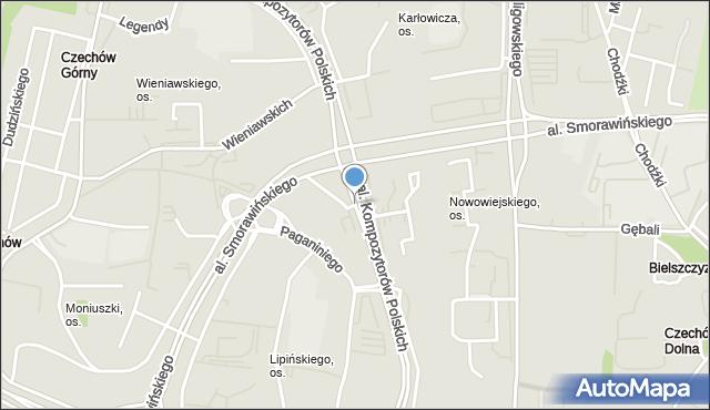 Lublin, Aleja Kompozytorów Polskich, mapa Lublina